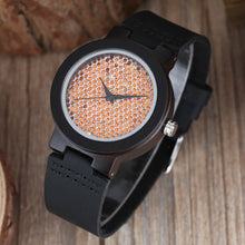Load image into Gallery viewer, Elegant Women's Bamboo Quartz Watch With Wooden Bracelet