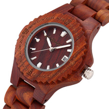 Load image into Gallery viewer, Women's Quartz Movement Handcrafted Wood Watch