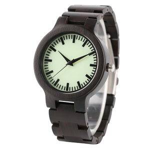 Bamboo Quartz Watch With Wooden Band