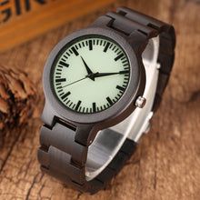 Load image into Gallery viewer, Bamboo Quartz Watch With Wooden Band