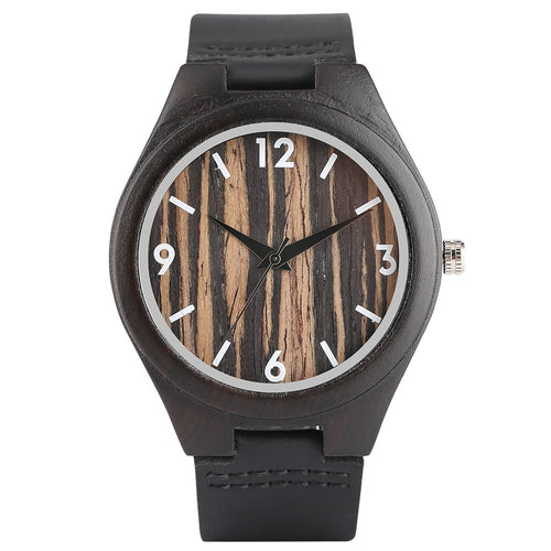 Fashion Handmade Bamboo Analog Quartz Wristwatch