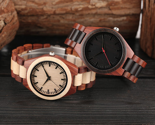 Handcrafted Sandalwood Automatic Mechanical Watch
