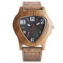 Load image into Gallery viewer, Handcrafted Bamboo Quartz Watch With Black Face