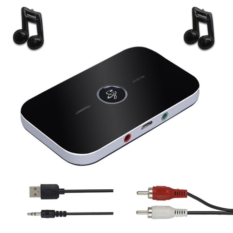 2 in 1 Wireless Bluetooth Receiver Transmitter 4.1 Audio 3.5mm Adapter For PC Smartphone