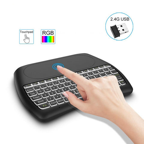 2.4G RGB Wireless keyboard with Touchpad Backlit Fly Air Mouse