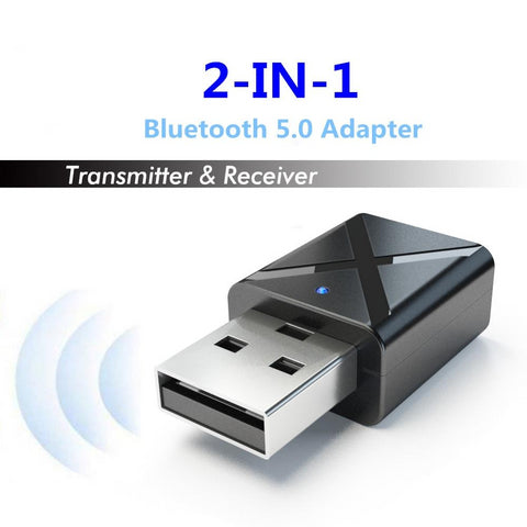 Bluetooth 5.0 Audio Receiver Transmitter Mini 3.5mm AUX Stereo