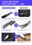 Micro USB Cable Denim Braided Fast Charging Data Cord