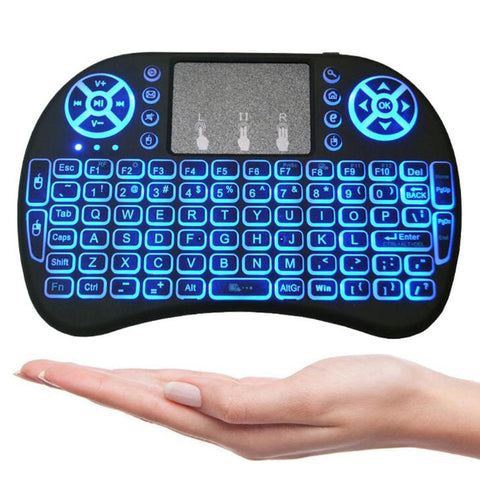 2.4G i8 Color Backlit Wireless Keyboard Mini Air Mouse Touchpad