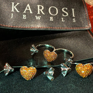Karosi Jewels signature ring - red - Adjustable