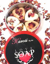 Load image into Gallery viewer, Love soap 5  pieces  -  heart shape (goats  milk)
