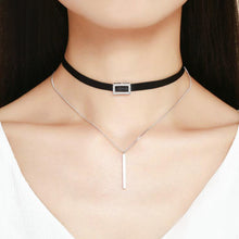Load image into Gallery viewer, Choker chain necklace Sterling Silver