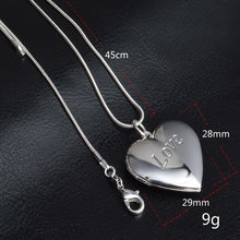 Load image into Gallery viewer, Heart Sterling Silver Locket necklace filled with  love fume solid perfume + extra Love fume 20g