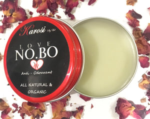 LOVE NO.BO ANTI ODOURANT 30g screw top tin casing