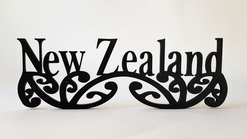 New Zealand sign art, carved of wood - TroubleMaker.co.nz