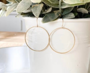 Clover and Coast Brass Hoops CAC-2