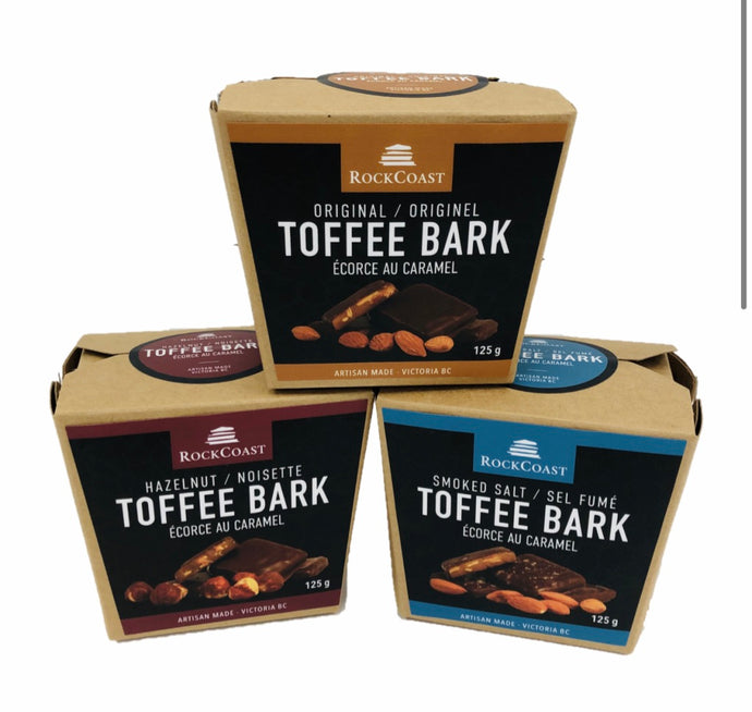 RockCoast Toffee Bark Box 125g    rc-1