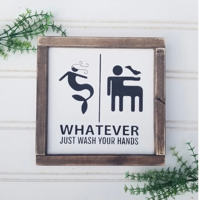 Within The Grain WASH YOUR HANDS Sign WTG-32
