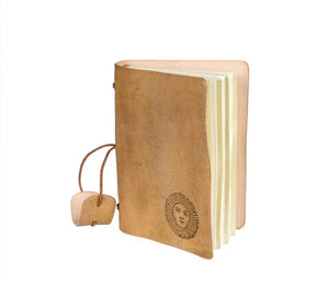 Tan Leatherbound Notebook 9-9802