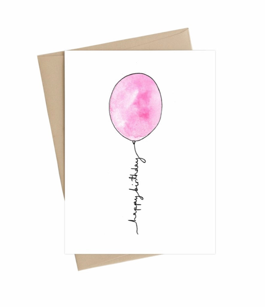 Happy Birthday Balloon - Little May Papery Greeting Cards LMP-01-9