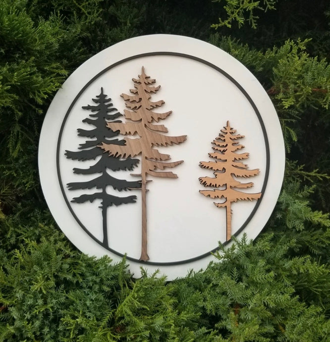 Forest 3D Round Sign WTG-65