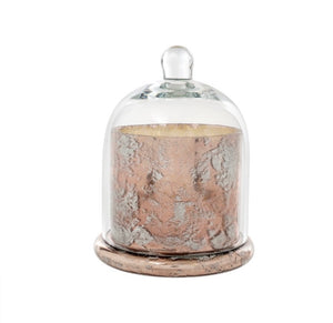 Large Rose Gold Cloche Candle 1-5260