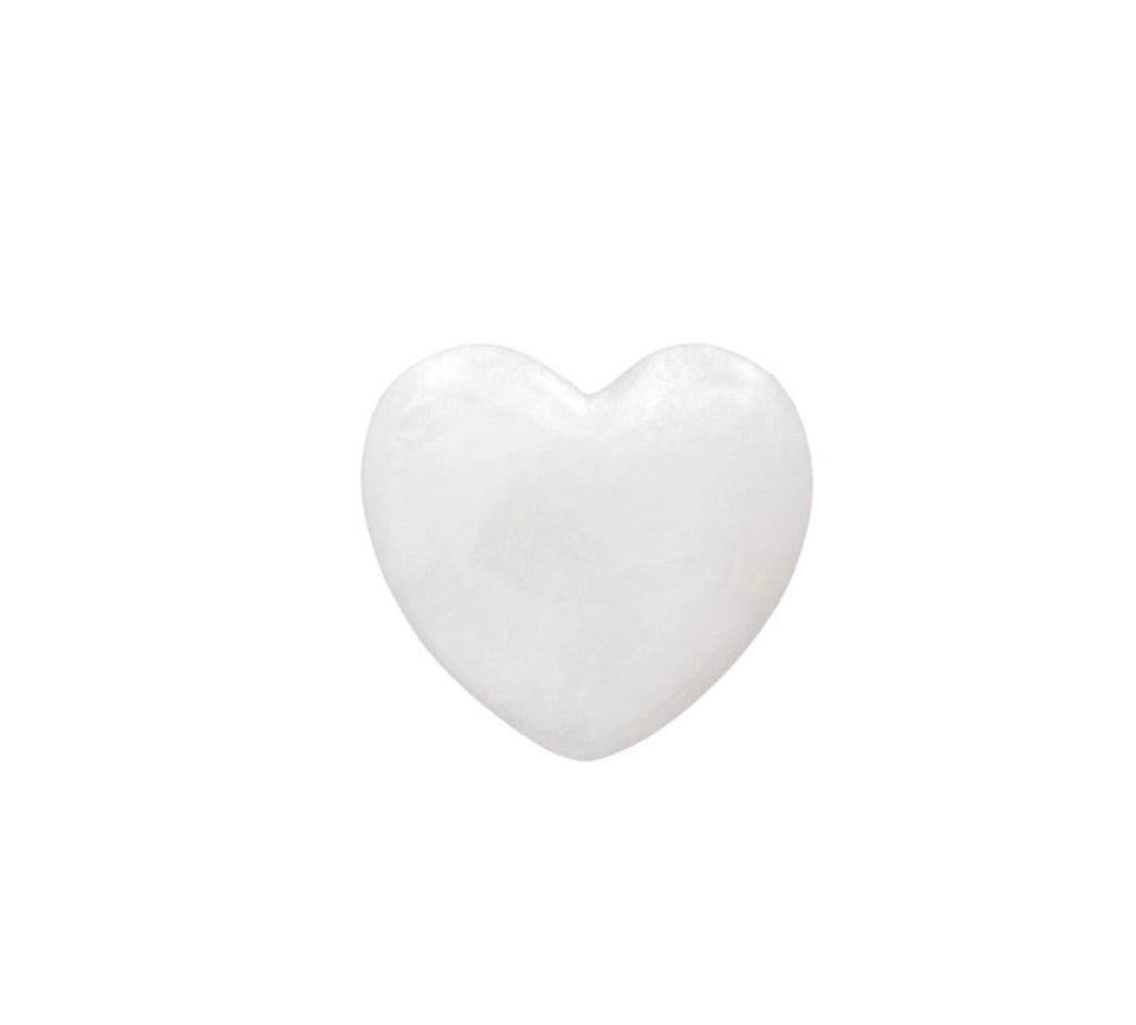 Small Alabaster Stone Heart  7-9458