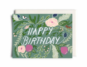 Floral Happy Birthday - Inkwell Cards TD025