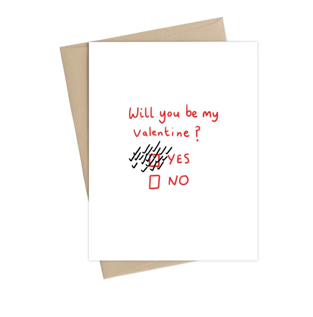 Will You Be My Valentine-  Little May Papery Greeting Cards LMP-01-13