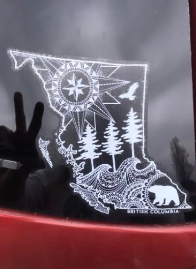 West Coast Karma BC Map Sticker wck-15
