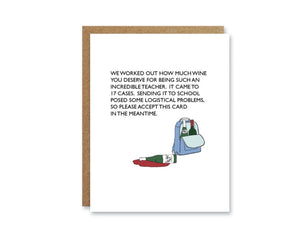In The Meantime -  Boo To You Cards Teacher