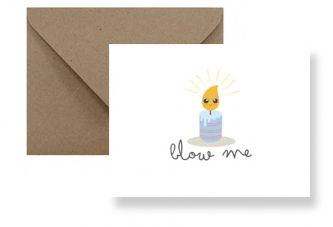 Blow Me Birthday Card IM Paper cards IMP-1-2