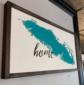 "Vancouver Island ""Home"" Sign WTG-70"