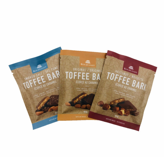 Rock Coast Toffee Bark Box 45g    rc-2