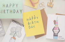 Load image into Gallery viewer, Yellow Happy Birthday Little May Papery Greeting Cards LMP-01-3