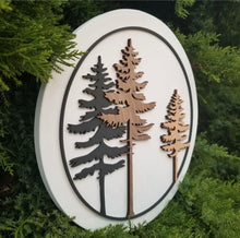 Load image into Gallery viewer, Forest 3D Round Sign WTG-65