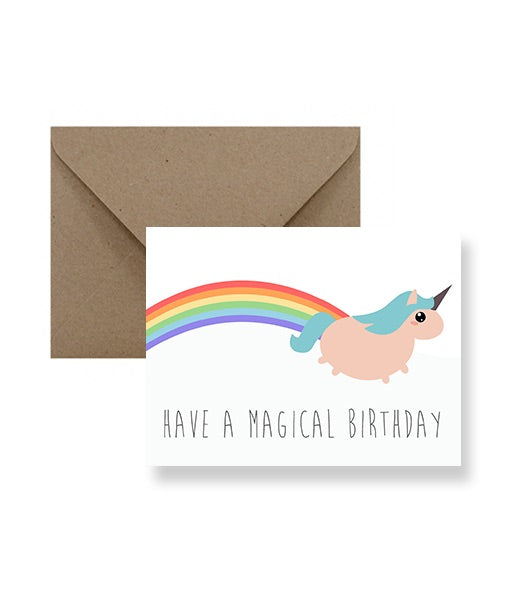 Magical Unicorn Birthday IM Paper cards IMP-1-1