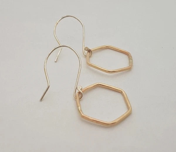 Monark Jewellery Hexagor Earrings MJ-34GFE