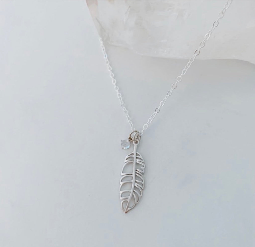 Oh So Lovely Feather Necklace  osl-8z
