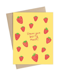 Thank You Berry Much-  Little May Papery Greeting Cards LMP-01-5