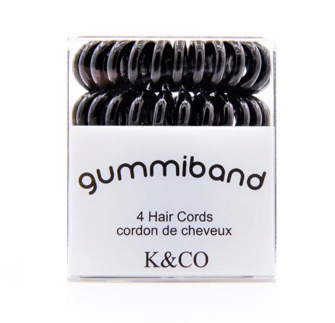 GummiBand Black Hair Ties