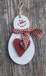 Westcoastkitsch Snowman Heart Ornament WCK-4