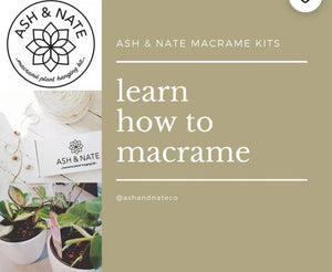 "Ash & Nate Co. DIY Macrame Kit ""Kinsol"""