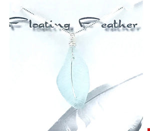Keeping Afloat Floating Feather Necklace FLTFn