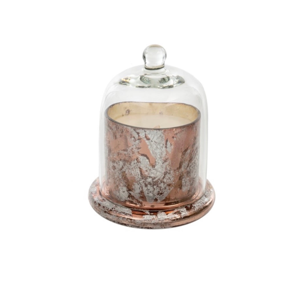 Small Rose Gold Cloche Candle 1-5261