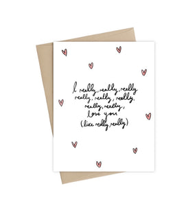 Really Like You-  Little May Papery Greeting Cards LMP-01