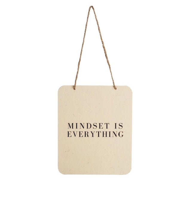 Mindset Is Everything Tin Sign 7-9196