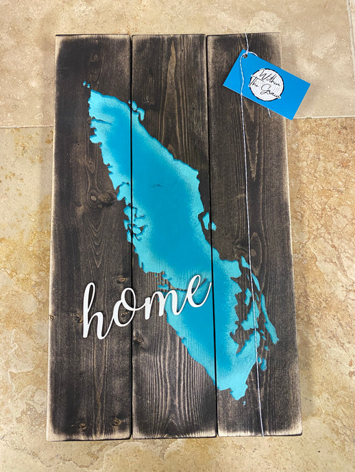 Vancouver Island 3D Home Sign WTG-48