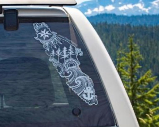 West Coast Karma Vancouver Island Car Decal  WCK-3