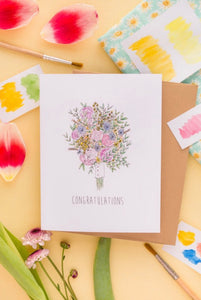 Congratulations Bouquet-  Little May Papery Greeting Cards LMP-01-8