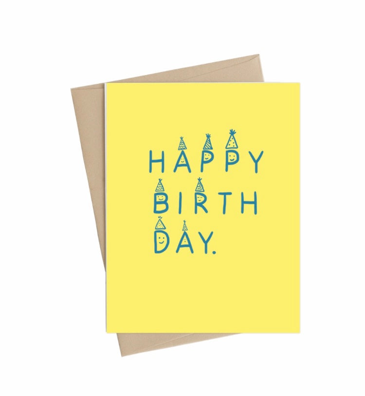 Yellow Happy Birthday Little May Papery Greeting Cards LMP-01-3